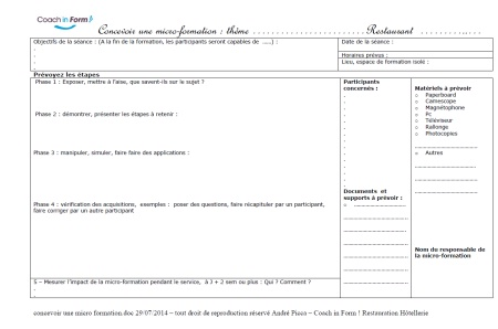 Organiser une micro-formation