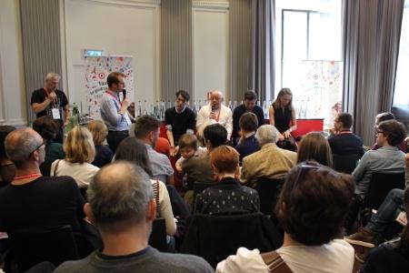 De gauche à droite sur l'estrade : Emmanuel Rubin, Thierry Marx, Éric Guérin et Céline Bracq