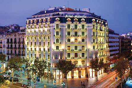 Majestic group abandonne le march fran ais for Hotels barcelone