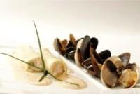 Le Cannelloni de tourteaux, coques et moules cuites minute