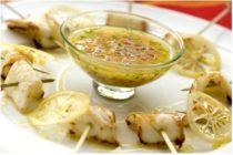 Tranches de calamars grillés, vinaigrette aux citrons confits