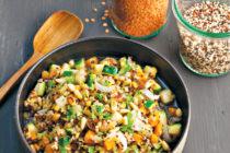 Salade épicée au quinoa et aux carottes