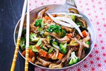 Filet mignon de porc au wok et chutney de cassis au gingembre