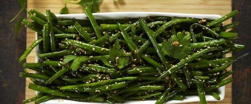 Salade d'haricots verts au sésame
