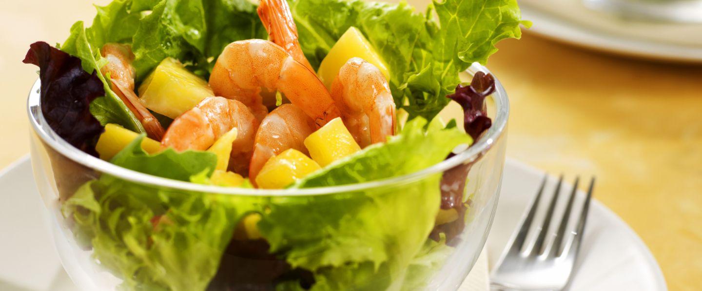 Salade de crevettes à la mangue - institut Paul Bocuse