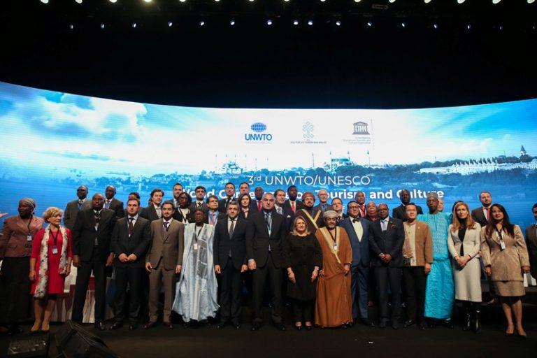 3ème Conférence Mondiale de l'OMT et de l'UNESCO sur le Tourisme et la Culture en Turquie : la délégation malagasy conduite par M. RAZAFINTSIANDRAOFA Jean Brunelle, Ministre du Tourisme