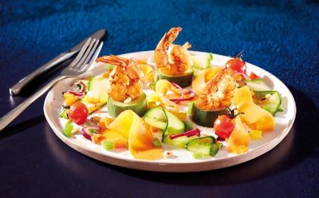 You are currently viewing Crevettes de Madagascar snackées, farandole de légumes