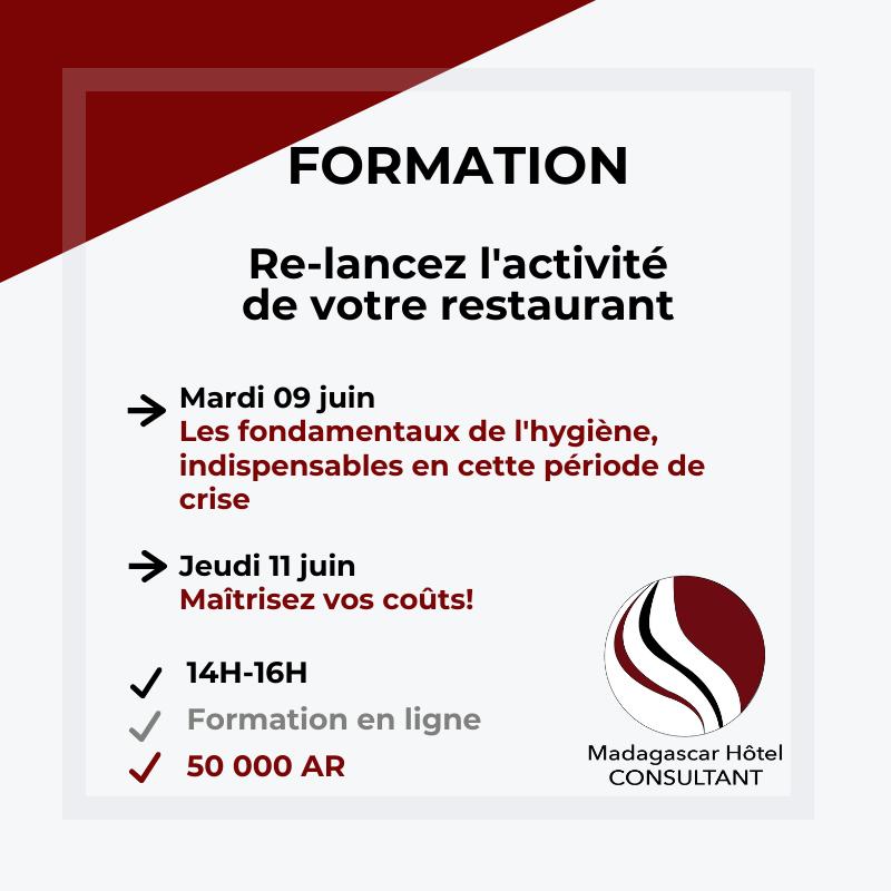 Formations : Les fondamentaux de l'hygiène et La maîtrise des coûts au restaurant