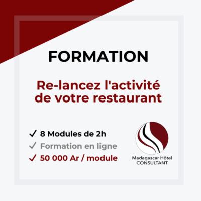 Formation : Re-lancez l'activité de votre restaurant