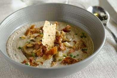 You are currently viewing Crème de champignons, poulet rôti et parmesan
