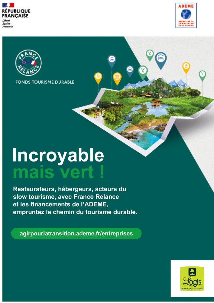 France – Fonds de tourisme durable : le Groupe Logis Hôtels partenaire de l'ADEME
